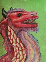 ACEO--Red Dragon