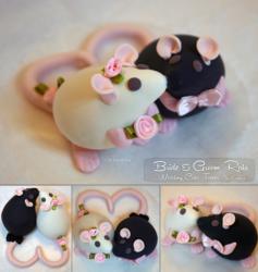 Rat Wedding Cake Toppers