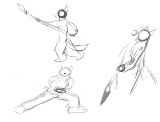 sketches of spears