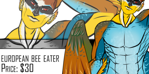 March: European Bee Eater Adoptable - Closed