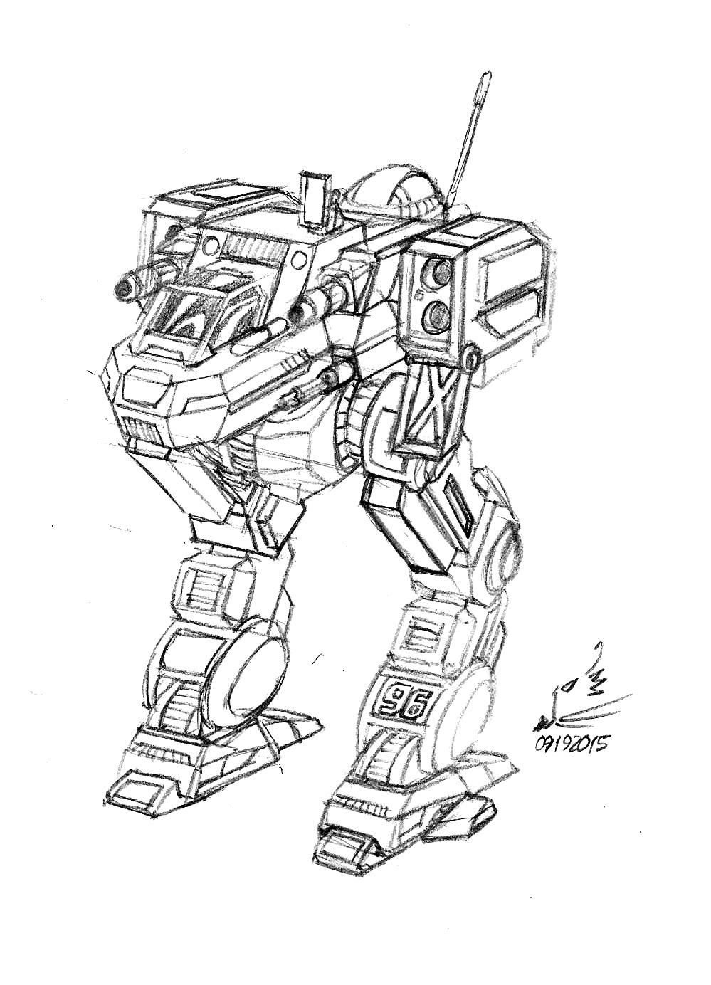 Walmart Doodle: Bigfoot Zero BattleMech