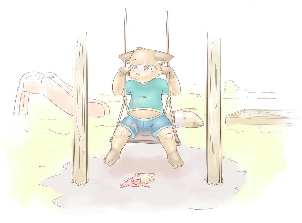 Most recent image: Dropped Icecream Swing Little Raccoon