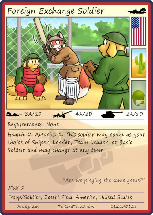 Tails and Tactics: Preview of: Foreign Exchange Soldier