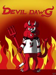 AHL MAX Series Number 09 of 30: Devil Dawg - Binghamton Devils