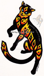 Elemental Fire Cat Tribal