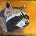 Raccoon head painting