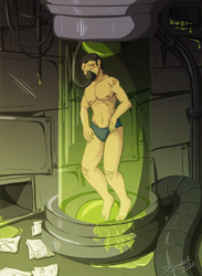 [YCH/Collab with NekoGato] Test Tube Rakan