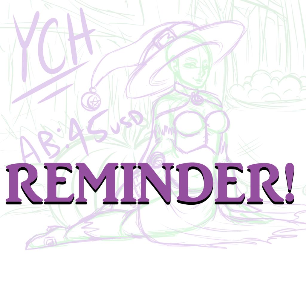 YCH Reminder