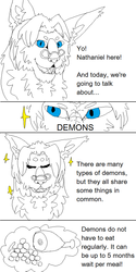 Nathaniel teaches the world about demons