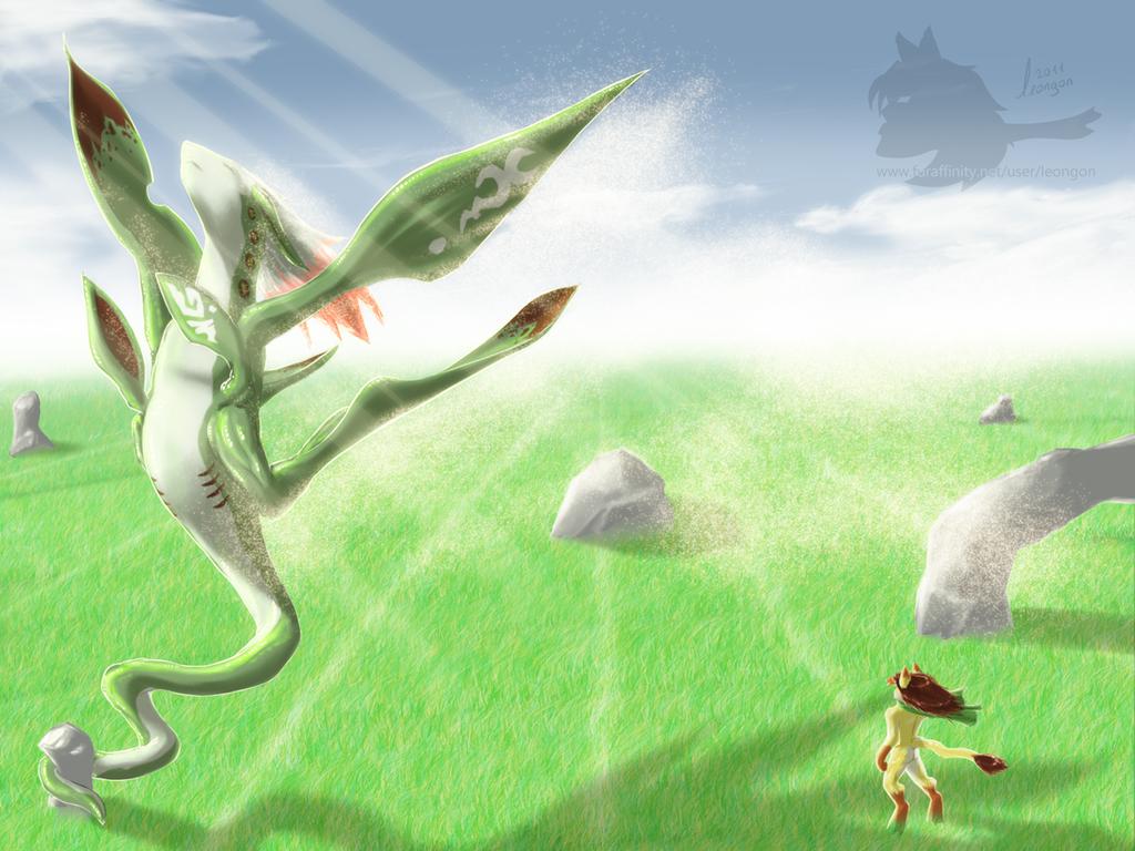 Cho Ryong, the grass dragon, Breath of Fire IV fan art