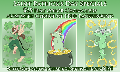 St Patrick's Day Sale 2014! GREEN DISCOUNT!