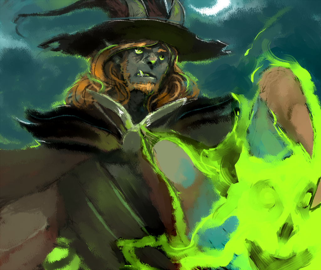 Orc Halfbreed Wizard