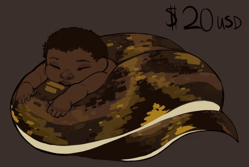 baby naga adoptable - $20 USD