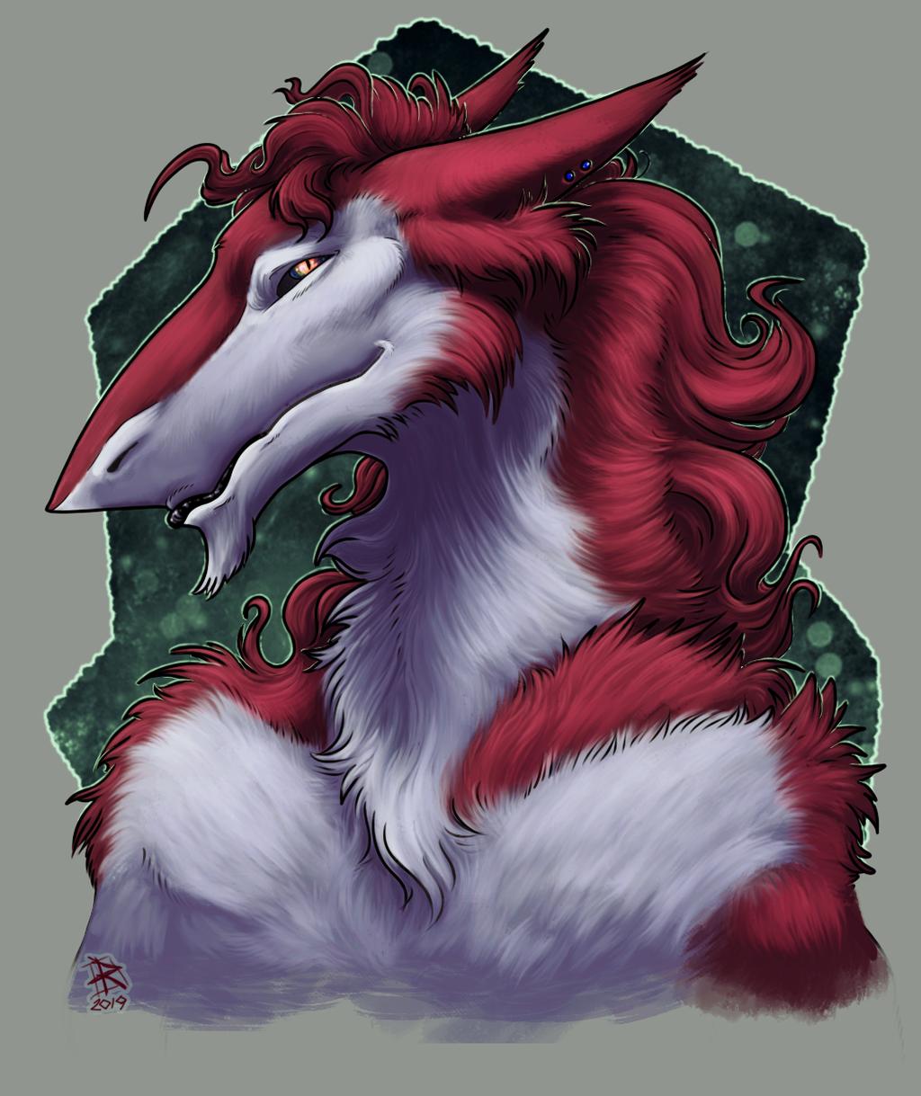 Most recent image: Commission portrait - Sergal