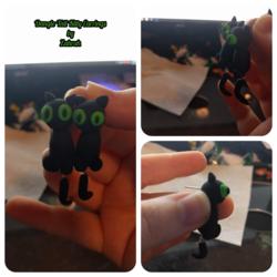 [S] Dangle Tail Kitty Earrings