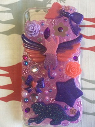 Pink And Purple Decoden Case