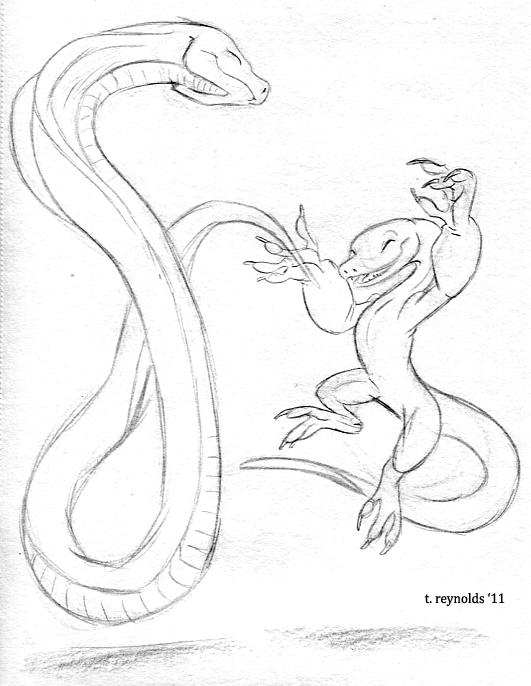 Black Jaguar Dancing Lizard and Cobra (2011)