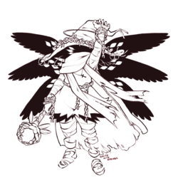 witch - lineart