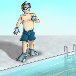 Ready for a Swim [Stream Commission - TF]