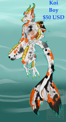 Koi Boy | ADOPTABLE | $50 USD | OPEN