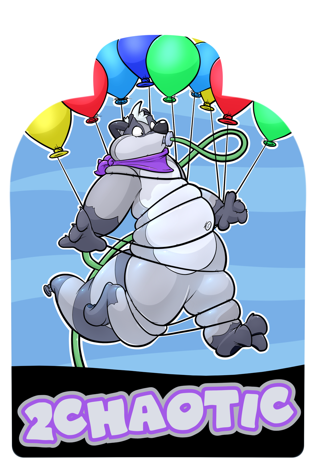 Midwest Furfest 2017 Badges - 2Chaotic