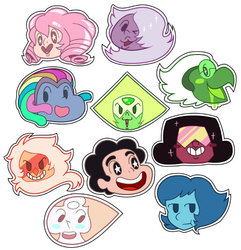Steven Universe Point Stickers