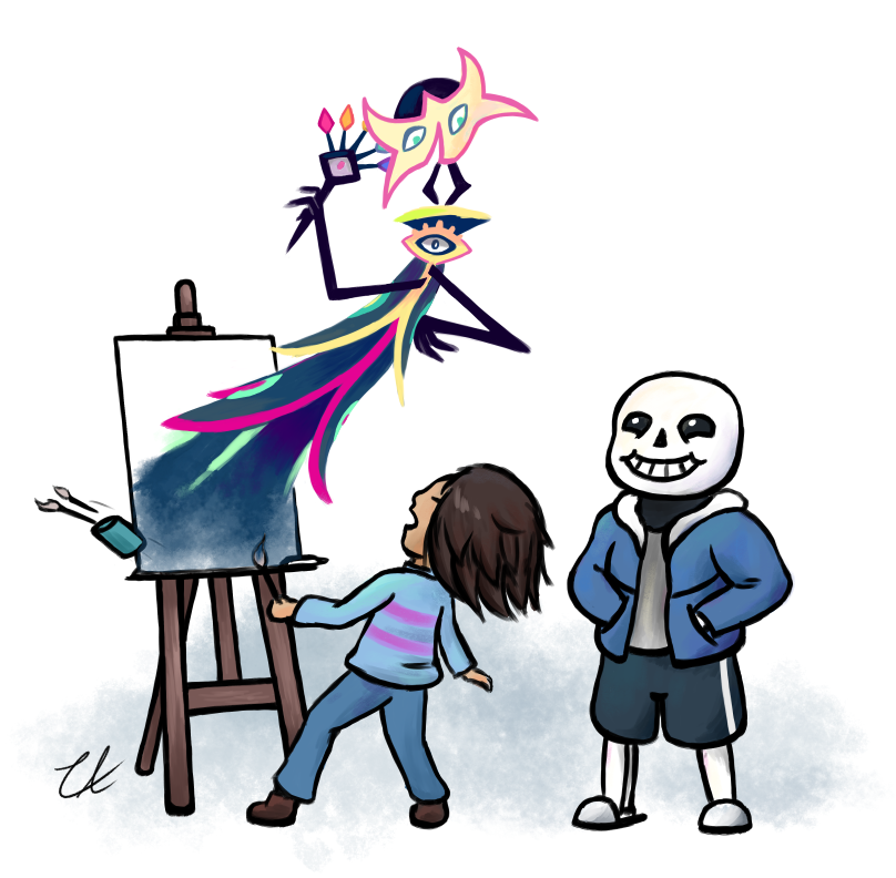 [Undertale+Floraverse] A Surprise Guest