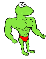 Muscle Lizard Dude