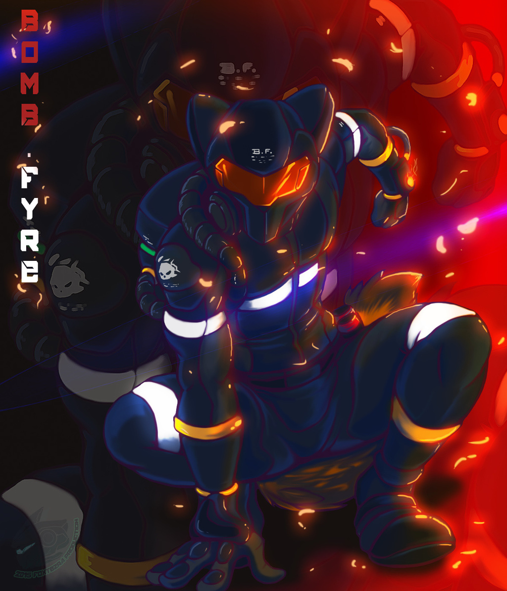 Bomb Fyre! (Commission Art)