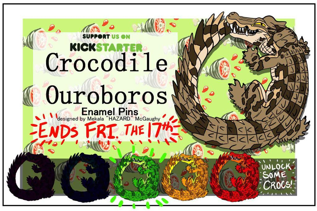 Most recent image: CROCODILE OUROBOROS HARD ENAMEL PIN! GREEN CROC UNLOCKED!