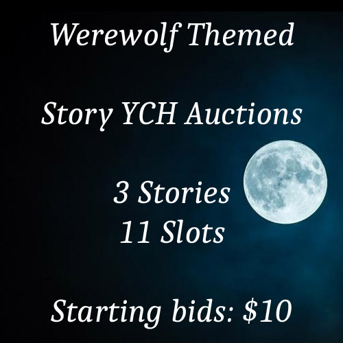 Most recent image: Werewolf themed story YCH auctions on FA