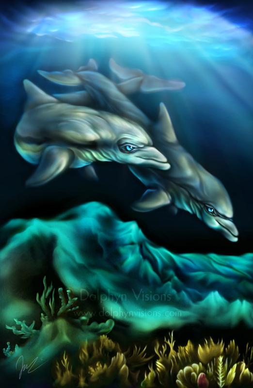 Azure World by Dolphyn (Mineau the Dolphin)