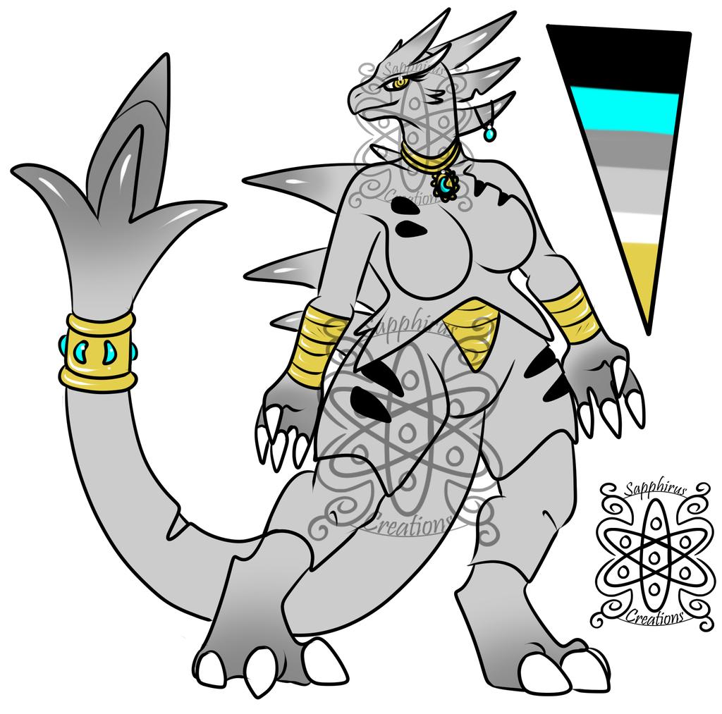 Female Silver Tyranitar (SOLD)