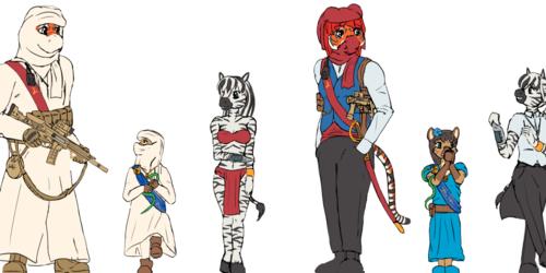Character sketchies (WIP 3)