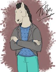 Halloween Sketch - Manestream as Bojack Horseman