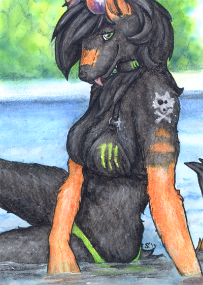 ACEO/ATC: Monster girl