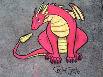 Dragon-Chalk Art