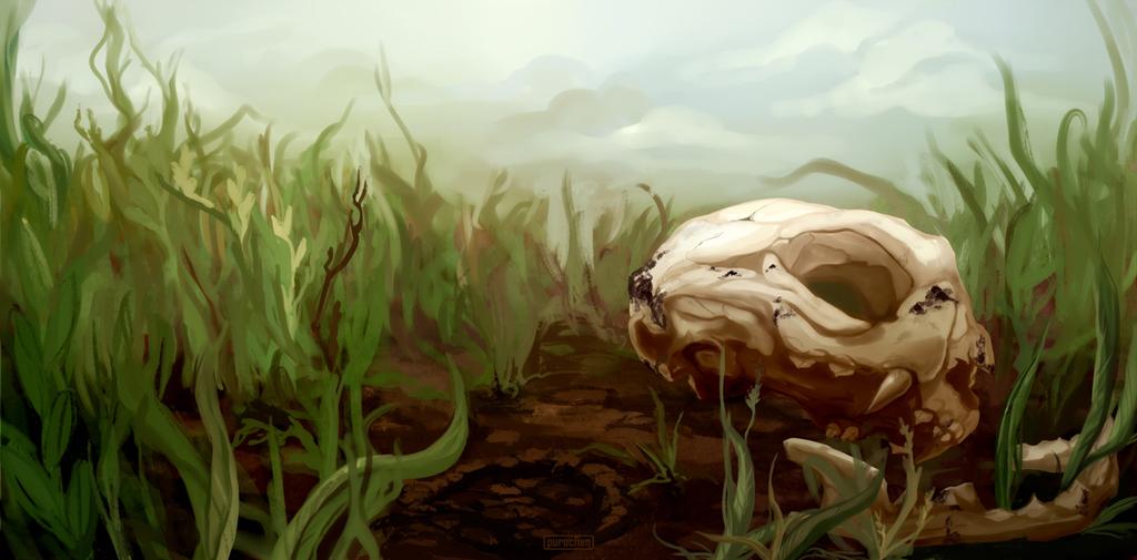 Commission: Cat's scenery