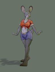 Bald space monkeys need bunny women character