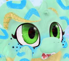 A fluffy child in a fluffy world