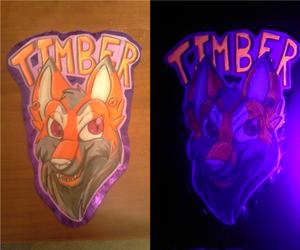 [C] Timber UV/Glow in the Dark Badge