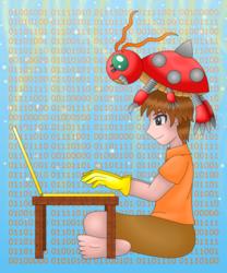 Izzy and Tentomon (Digimon)