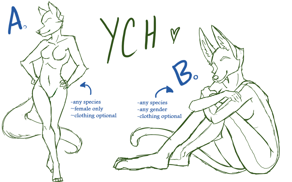 Most recent image: YCHs 02 & 03 - Ladies [Open]