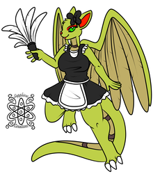 Female Petit Dragoness +Flatcolored commission+