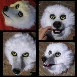 Unfinished fursuit head