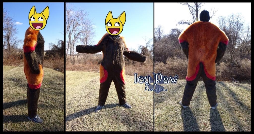 Red panda bodysuit