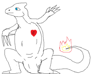 Charlizard Doodle - by Guan