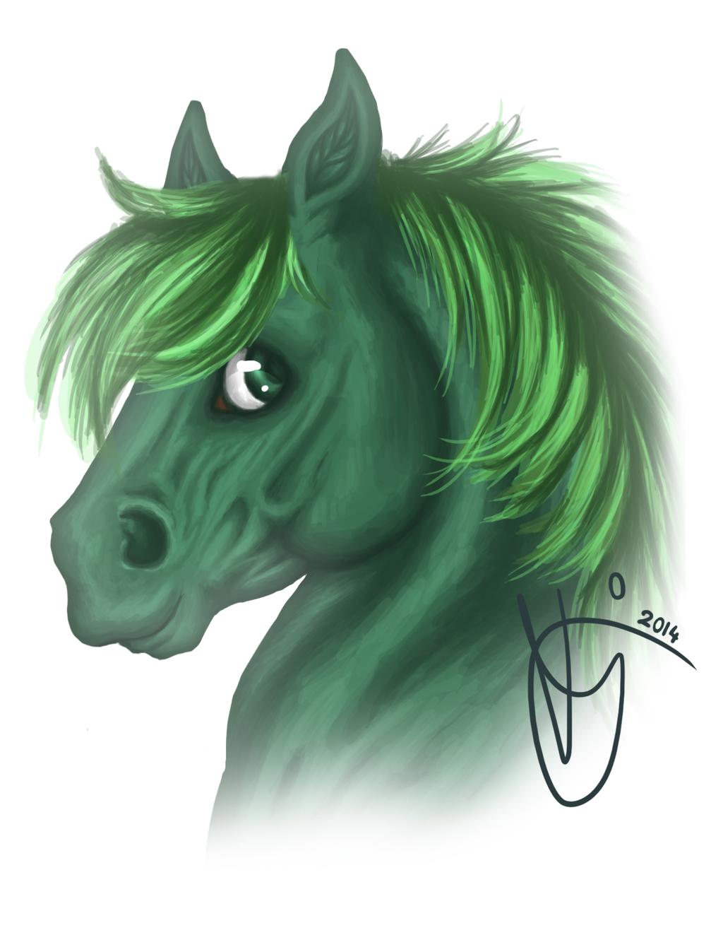 Chibi horse painting