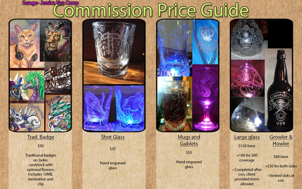 Most recent image: Commission prices an examples
