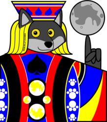 Spade king half-face